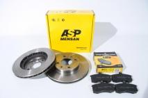 Диск переднего тормоза 2110-3501070 (к-т) ASP MENSAN + Колодки тормозные передние Евро Деталь 2108-3501080